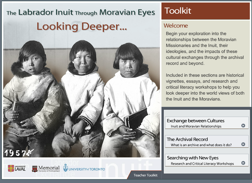 Labrador Inuit through Moravian Eyes, Student Toolkit